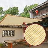 Toldos CJC Protector Solar Vela De La Sombra Tela Sol Tela De Sombra con Ojales para Cubierta De Pérgola (Color : Sand, Size : 3x5m)