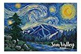 Promini Sun Valley, Idaho - Bald Mountain - Starry Night - 1000 Piece Jigsaw Puzzles for Adults Kids, Puzzles for Toddler Children Learning Educational Puzzles Toys for Boys and Girls 20' x 30'
