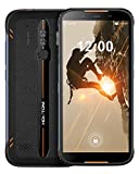 HOMTOM HT80 Android 10.0 Outdoor Smartphone Ohne Vertrag, 5MP+13MP Dual-Rückfahrkamera Handy Ohne Vertrag, 5,5 Zoll IP68 16 GB 4G Dual SIM, 4300 mAh Akku, NFC Wireless Charge & Fast Charge Orange