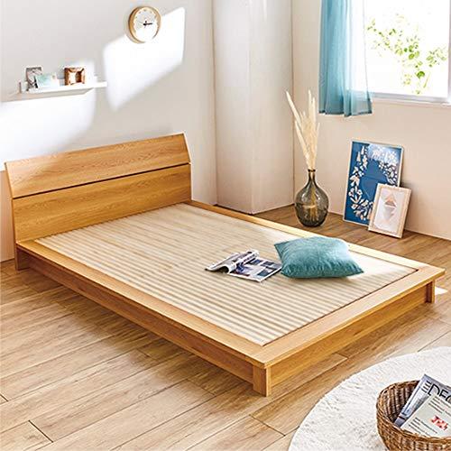 ベッド寝具布団フロアベッドローベッド【ボンネルマット付クイーン】天然木調ヘッドボード付き細すのこローベッド566457(サイズはありませんイ:ダークブラウン)