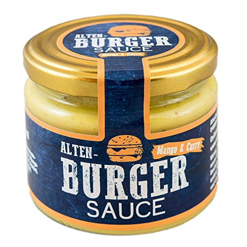 Altenburger Original Burger Sauce Mango Curry 250 ml, fruchtig-cremige Burgersauce