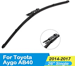 SDKLNW Car Styling Wiper Blades Natural Rubber,for Toyota Aygo,2005 2006 2007 2008 2009 2010 2011 2012 2013 2014 2015 2016 2017