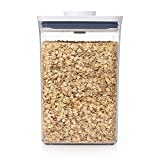 OXO Good Grips POP Container – Airtight 4.4 Qt for Flour and More Food Storage, Square, Clear