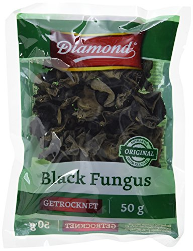 Diamond Mu Err Pilze  / Black Fungus, getrocknet, 50g, 2er Pack (2 x 50 g Packung)