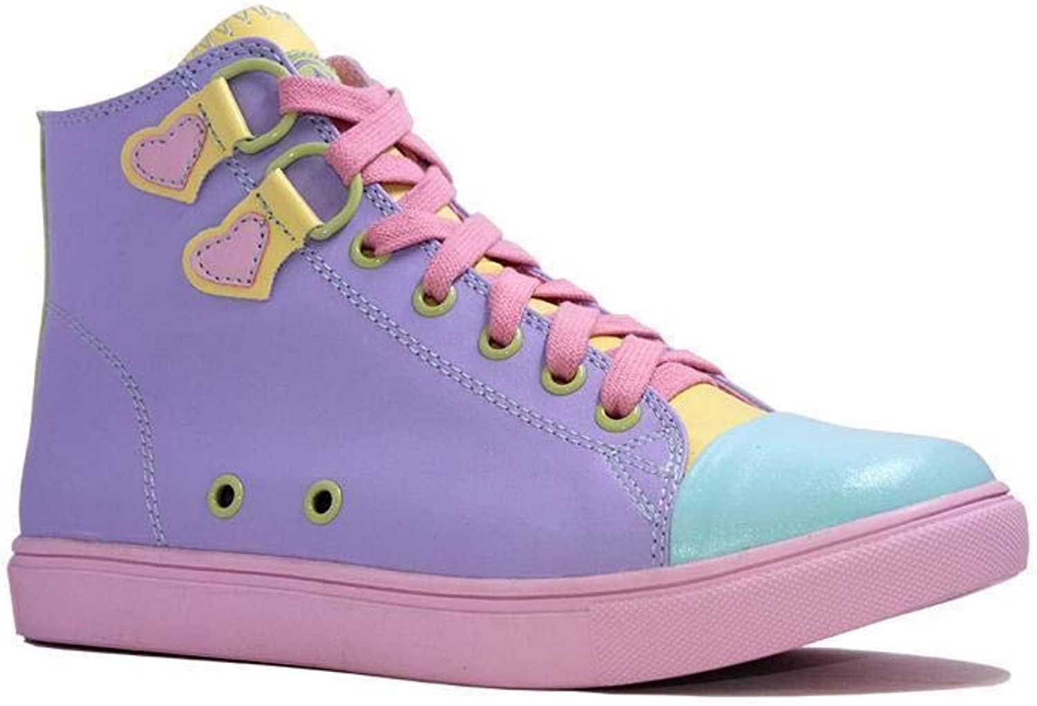 YRU STRANGE CVLT Chelsea Pastel Sneaker High Top Punk Rock