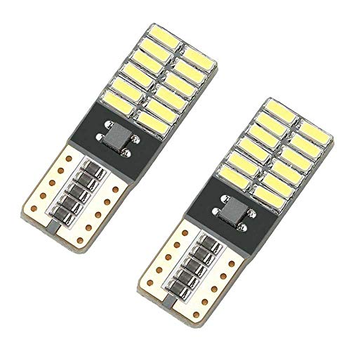 Ociodual 2 Veilleuses Ampoules LED T10 W5W 24 SMD 4014 COB Canbus sans Erreur Lampe NO Error Blanc pour Lampes Intérieur