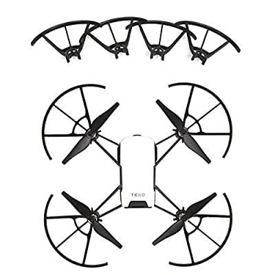 Kismaple Tello RC Quadcopter Quick-Release Propellers for DJI Tello (propeller guard, black)