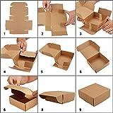 Zoom IMG-1 kurtzy scatole regalo cartone marroni