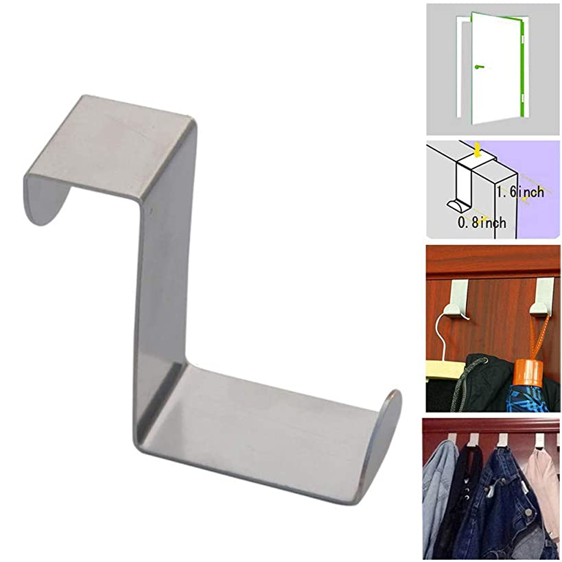 Anasu 3 Pack Over The Door Hook Stainless Kitchen Cabinet Clothes Z Shaped Hanger Hook Storage Organizer for Kitchen, Bathroom, Bedroom and Office