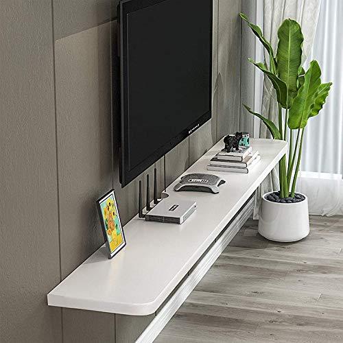 DGDF Estante movible para TV componente, estante de pared para consola multimedia montado en la pared, estante de almacenamiento para caja de cable/enrutador/remotos/host/libro, fácil de limpiar