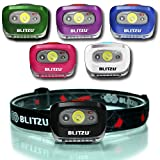 BLITZU Headlamp Flashlight 165 Lumen. Bright Spot White Cree Led + Red Night