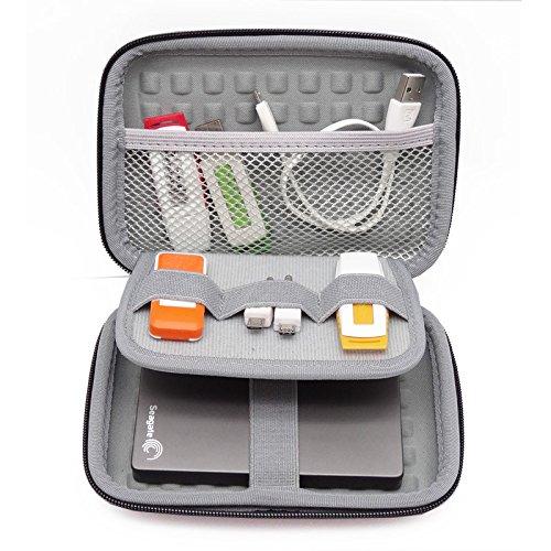 Custodia da 2,5 pollici Custodia HDD portatile con custodia rigida da 2.5 pollici per disco rigido esterno da 2.5 pollici / auricolare / disco rigido