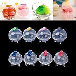 Superlly DIY Plastic Ice Balls Round Ball Mold (Random Color ) - Set of 8