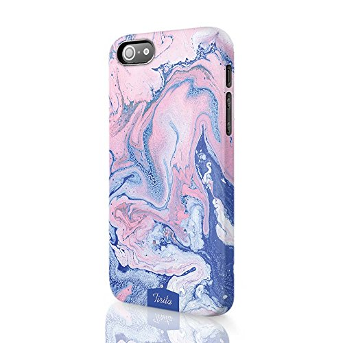 Tirita Phone Case Compatible with iPhone 4 & 4s Hard Cover Colourful Marble...