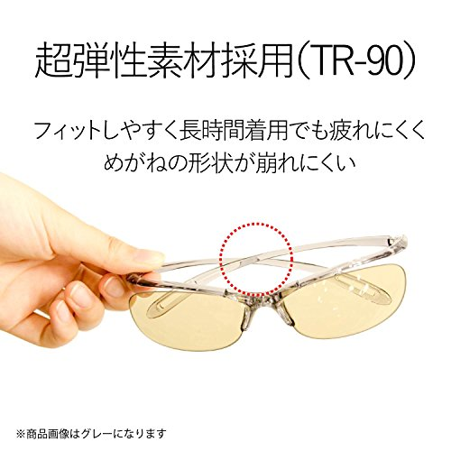 エレコム ブルーライト対策眼鏡 日本製 超吸収 ブラウンレンズ ワイン OG-YBLP01WN