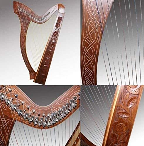 Uzman-Versand Keltische Harfe 27 Saiten mit Halbtonklappen,