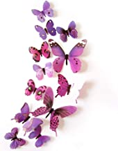 12-Piece 3D Mix Colour Butterfly Wall Stickers Decoration, W 30.6 x H 22.6 x L 3.6 cm
