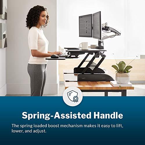 VariDesk Pro Plus 36 by Vari – Height Adjustable Standing Desk Converter – Stand Up Desk Converter for Dual Monitors – (Black)