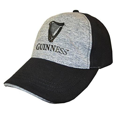 Modisch Baseball Kappe | Grau Schwarz Performance Snapback Baseball Cap mit Harfe Design | Baseballmütze für Herren von Guinness