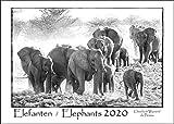 ELEFANTEN 2020 - ELEPHANTS 2020 Kalender (A3 Querformat): Schwarz-Weiß Wandkalender der faszinierenden Elefanten Afrikas.