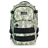 RMS Carry On Backpack - Compact Multipurpose Daypack for Travel, Camping, Hunting, Hiking - Military Style Backpacks for Men, Women & Students - Fits Up to 13 inch Laptop or Notebook (Camo Style)