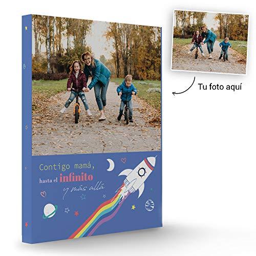 Fotoprix Lienzo Personalizado con Foto para Mamá | Regalo Original día de la madre | Varios diseños y tamaños (Madre 3, 30 x 40 cms)