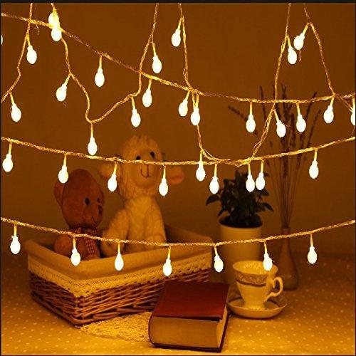 Ibello Lichterkette Außen, 12M 100 Globe LED Lichterkette mit 8 Modi, IP44 Wasserdicht, DIY Deko Innen und Außen, Kugel beleuchtung für Garten, Partys, Balkon, Hochzeit, Weihnachts Deko (Warmweiße)