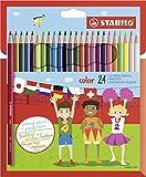 Matita colorata - STABILO color - Astuccio da 24 (20 base + 4 fluo) - Colori assortiti