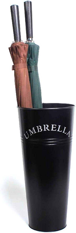 Metal Umbrella Stand Household Umbrella Storage Rack - Balcony Coffee Shop Decorative Umbrella Barrel 3 color (color   Black)