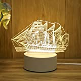 SHIJIE1701AA Pasillo luz de Noche Regalo Creativo de la Noche 3D luz del Dormitorio Recuerdos del Regalo LED 3D Visual Lámparas Efecto Luz Nocturna