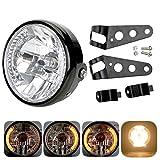 Faro de moto de 7 pulgadas, proyector LED, proyector de moto, luces intermitentes delanteras con soporte de montaje