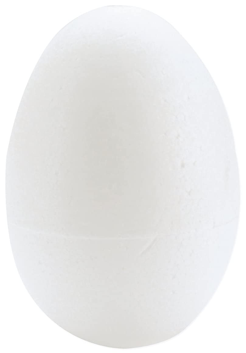Smoothfoam 6-Pack Egg Crafts Foam for Modeling, 2.5-Inch, White