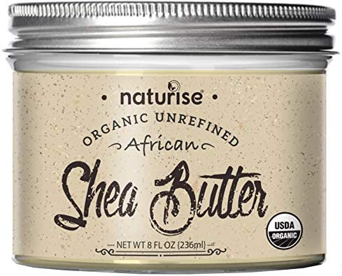 Naturise Shea Butter Raw Organic Unrefined Ivory 8 fl oz Highest Grade African Shea Butter Great product image