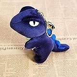 A9TEN Dinosaur Plush Keychain, Dino Stuffed Animal Keyring Backpack Decorations Bag Pendant Gift for Kids Blue