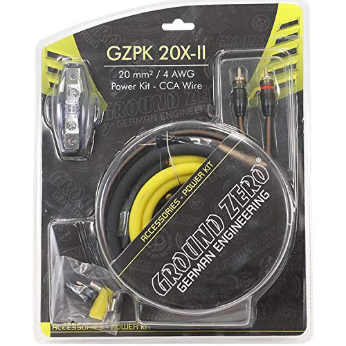 GZPK 20X-II Ground Zero 4 AWG Kit cablaggio