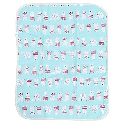 Fasciatoio Portatile Pieghevole, Fasciatoio da Viaggio Biancheria da letto infantile dei bambini dell'urina materasso infantile impermeabile respirabile del pannolino-50 * 70 cm(Bear)
