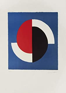 Berkin Arts Sonia Delaunay Giclee Print On Canvas-Famous Paintings Fine Art Poster-Reproduction Wall Decor(Red Blue Black White Composition) Large Size 27.8 x 39 inches #EDFB
