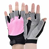 KAMO Ultralight Anti-Slip Breathable Gloves for Gymnastics,Kayaking,Paddling,Sailing,Weight Lifting,Training,Fitness?Bodybuilding and Outdoor Cycling Men & Women(Pink,L) lifting gloves Oct, 2020