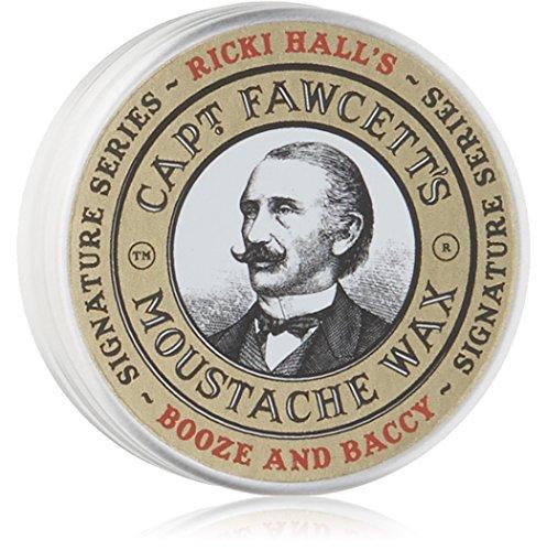 Captain Fawcett Moustache Wax Booze & Baccy by Ricki Hall's