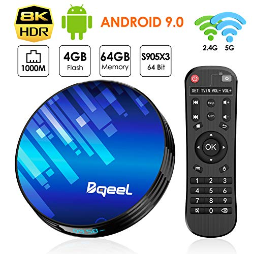 Bqeel Android 9.0 TV Box Y8 MAX 4G RAM 64G ROM, CPU Amlogic S905X3...