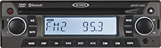 Jensen JDVD1500 Single-DIN 12-Volt AM/FM/CD/DVD/Bluetooth Player with Credit Card-Size Remote Control, Bluetooth Audio, Electronic AM/FM Tuner, Single DVD/CD Player (DVD, CD-A, CD-R/RW), MP3 Support,