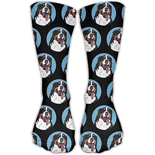 DaCrew Funny Bernese Mountain Dog Face Unisex Novelty Crew Socks Ankle Dress Socks Fits Shoe Size 6-10