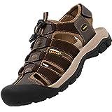SAGUARO Verano Sandalias de Senderismo Hombre Mujer Sandalias de Deportivas Transpirable Zapatos de Trekking Montaña Playa Antideslizante, Marrón 43