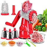 Meat Grinder, Rotary Cheese Grater, Kitchen Multi-Function Meat Grinder with Strong Suction Base, 4...