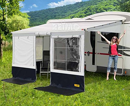 RTENT Markisenzelt Villa Store Premium Anbauhöhe: 250-280cm Farbe: schwarz/grau Länge: 4,5m