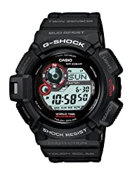 digital watch with compass and thermometer