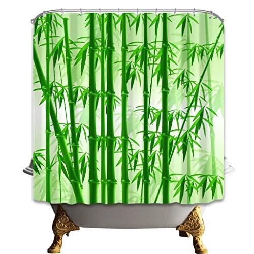 cortinas de baño antimoho verde