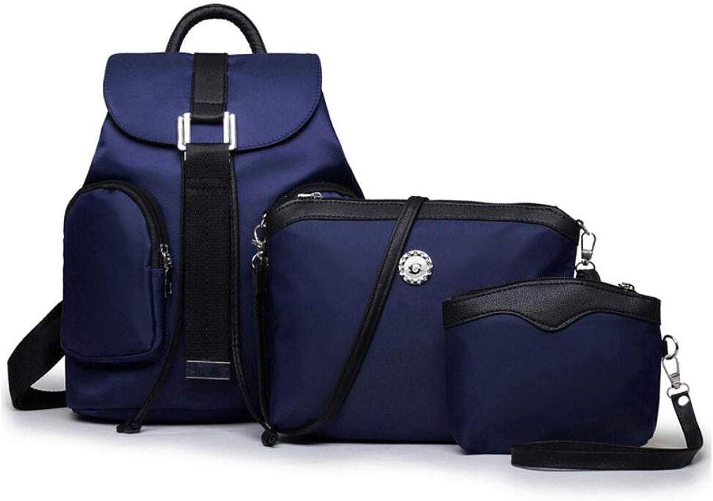 ZZXT Damentaschen Nylon Schultasche Reisetasche Rucksack 3 Stück dreiteilige Rucksack Tasche wasserdicht zurück Brötchen-Set (Farbe   02, Größe   87976555) B07JHPW9L1  Hohe Qualität und Wirtschaftlichkeit