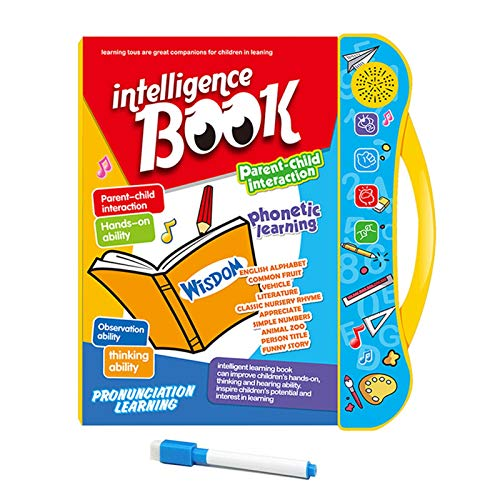 Xuanshengjia Lernbücher, Smart Talking Book Für Kinder Frühe Lernentwicklung, Tiere Früchte Englisch Lernmaschine, Spielzeug Lesen Interaktive Bücher Für Kleinkinder