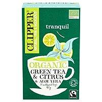 [Clipper ] パックあたりシトラス&アロエベラ20と有機のフェアトレード緑茶をクリッパー - Clipper Organic Fairtrade Green Tea with Citrus & Aloe Vera 20 per pack [並行輸入品]